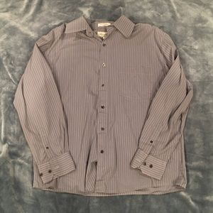 CLEARANCE: Eighty-Eight Pinstripe Grey Button Up